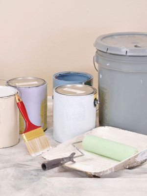 cubos of paint inside home