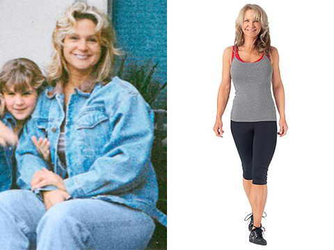 44 años de edad woman before and after losing 75 pounds