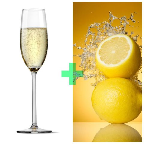 prosecco with lemon