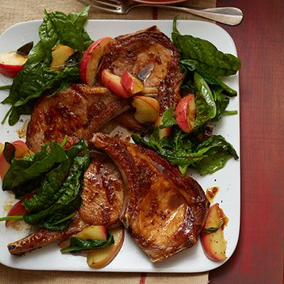 porc chops with apples and cider pan sauce