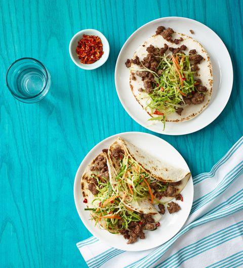 korejština Tacos with Asian Slaw