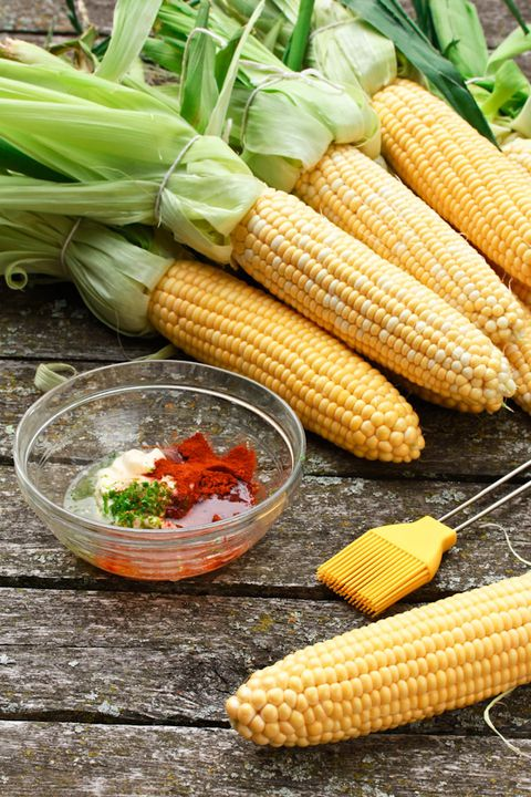 A la parrilla corn on the cob with spicy lime mayo