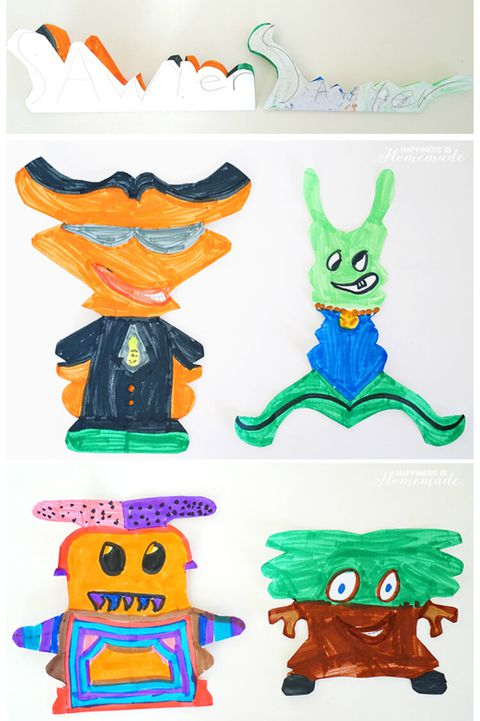 tilbage to school activity kids alien art