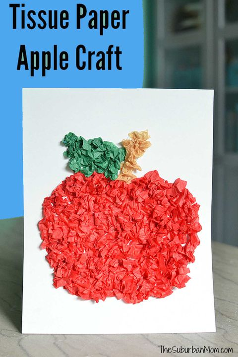 tilbage to school activity tissue paper apple